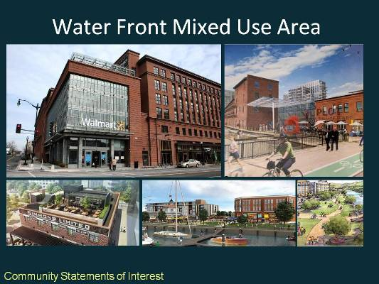waterfront mixed use area